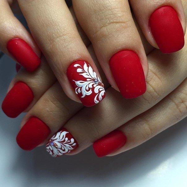 Красный дизайн ногтей 2017 фото новинки