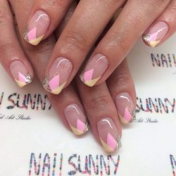 Geometric french nails photo