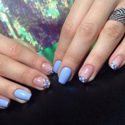 Light blue nails photo