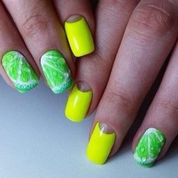 Lime summer nails photo