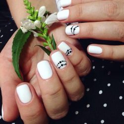Beautiful black and white nails photo