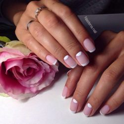 Short nails french manicure ideas photo