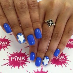 Nails with stars photo