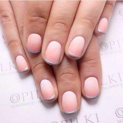 Pink and silver nails photo