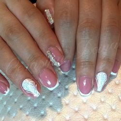 Bright french manicure photo