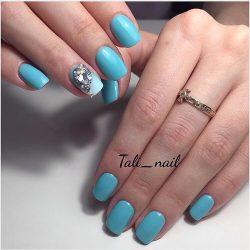 Blue summer nails photo