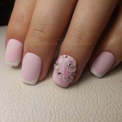 Pale pink french manicure photo