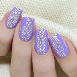 Ideas of lilac nails photo