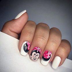 White nail art photo