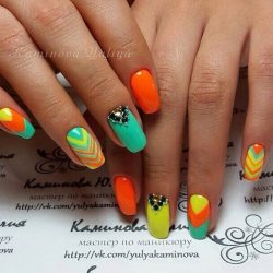 Summer colorful nails photo
