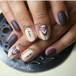Coffee nails photo