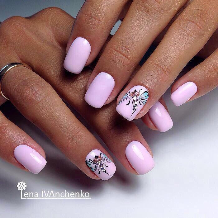 Pink nails - Nail Art #2257 - Best Nail Art Designs Gallery BestArtNails.com