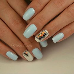 Light blue nails photo