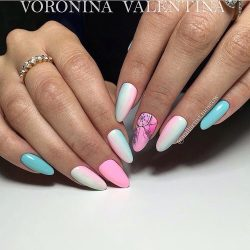 Bright colorful nails photo