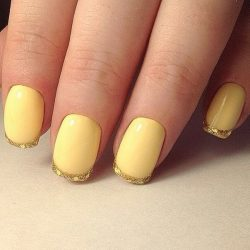 Yellow gel polish photo