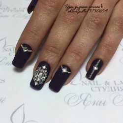 Nails with beads photo