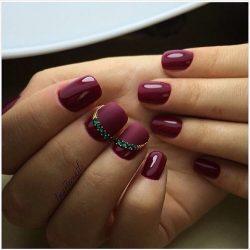 Dark cherry nails photo