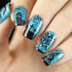 Nails with a cross photo