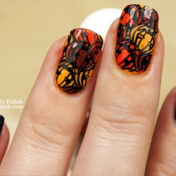 Pumpkin nails photo
