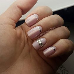 Nails of natural shades photo