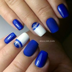 Short half moon nails photo