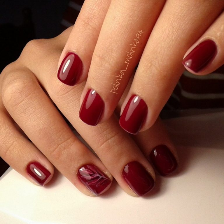 Burgundy nails ideas