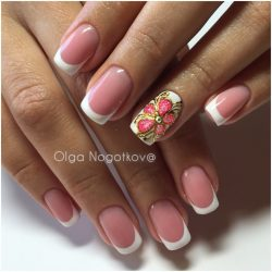 Wedding French manicure photo