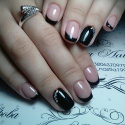 Nails for a black evening dress photo