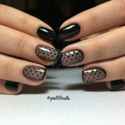 Black dress nails photo