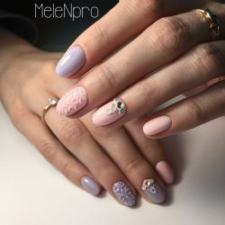 Gentle summer nails photo