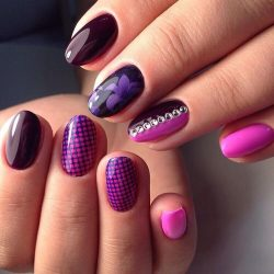 Manicure in purple tones photo