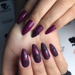 Ideas of plum nails photo