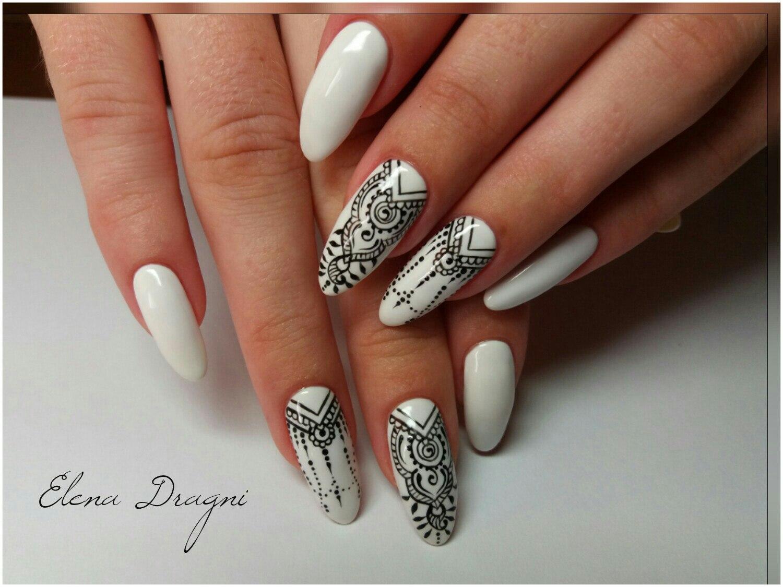 White background nails