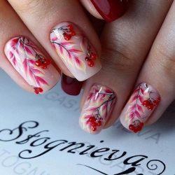 Bright fall nails photo