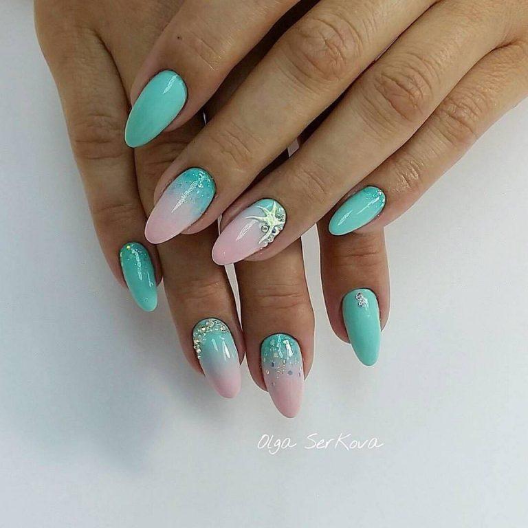 Summer sea nails