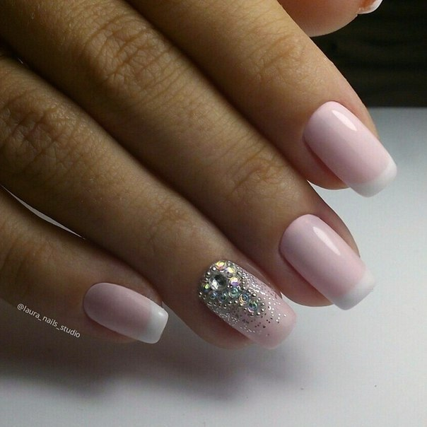 Delicate french manicure