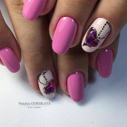 Lilac nails photo