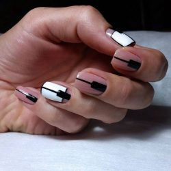 Nails with lines photo