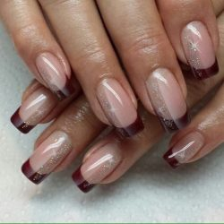 Fall french nails photo