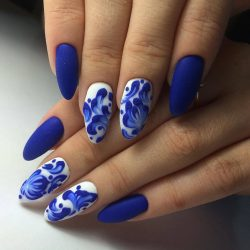 Bright- blue nails photo