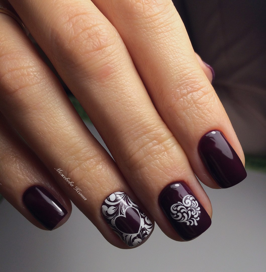 Dark shellac nails - The Best Images | BestArtNails.com