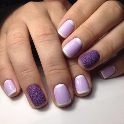 Short purple nails photo