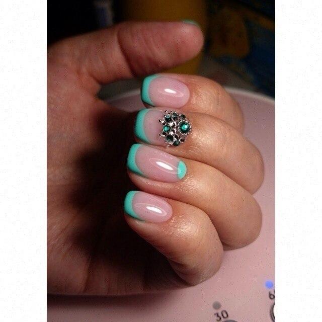 Spring nails by gel polish