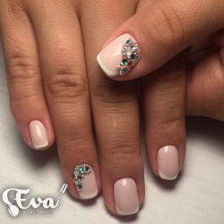 Gentle french nails photo