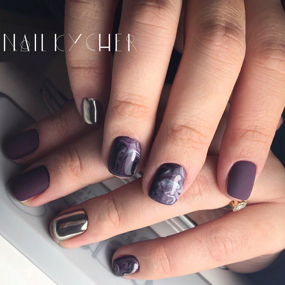 Ideas of plum nails - The Best Images | BestArtNails.com