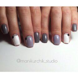Grey nails photo