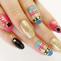 Hollywood celebrities nails photo