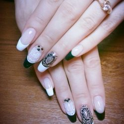 Black And White French Nails Photo