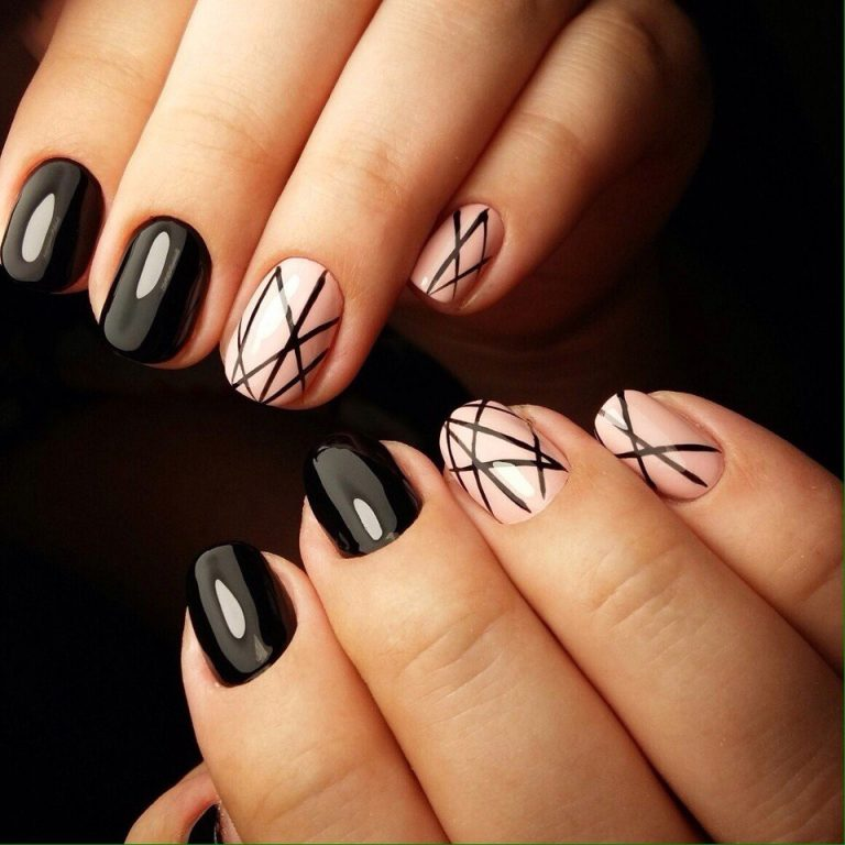 Black nails - Nail Art #2383 - Best Nail Art Designs Gallery BestArtNails.com