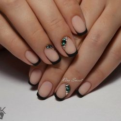 Nail art 2401 black dress nails black french manicure black